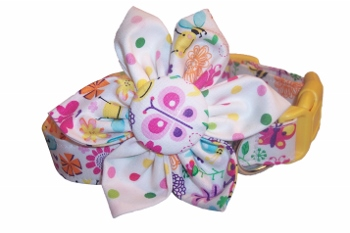 Linda Lou Blossom Flower or Bow Tie Collar