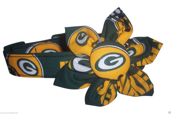 GREEN BAY PACKERS BLOSSOM or BOW TIE