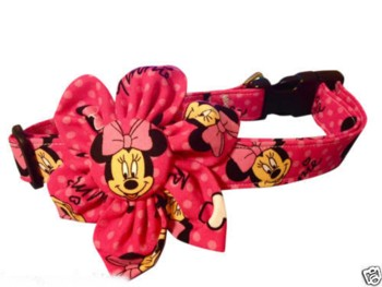Minnie Mouse Blossom Flower Collar