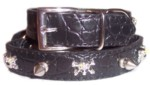 Black Croc Collar Large-