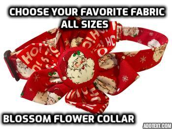 BLOSSOM FLOWER COLLAR (Choose Fabric & Size)