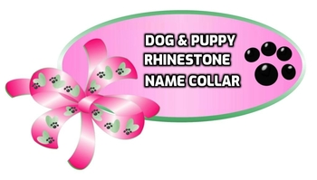 RHINESTONE NAME COLLARS