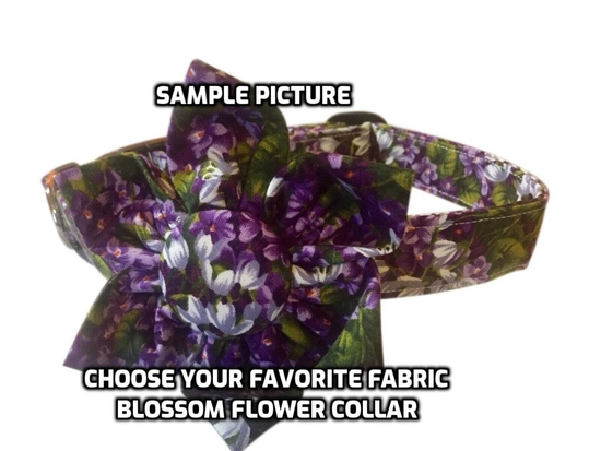 BLOSSOM FLOWER COLLAR or BOW TIE COLLAR