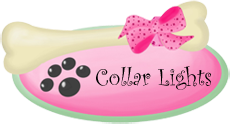 -Pets collar lights, wholesale pet collar lights, dog collar lights, light up tags, red collar light, white collar light, dog tag lights, cat collar lights, light up dog collars, bright light dog collars